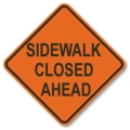 Where to rent SIGN, SIDEWALK CLOSED AHEAD in Edmonds WA
