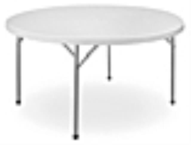 Where to find TABLE, ROUND, 60  PLASTIC in Edmonds