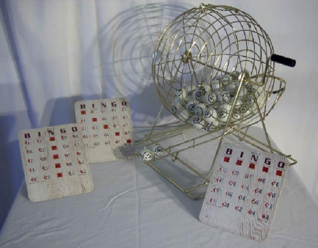 Where to find BINGO CAGE W BALLS  NO CARDS in Edmonds