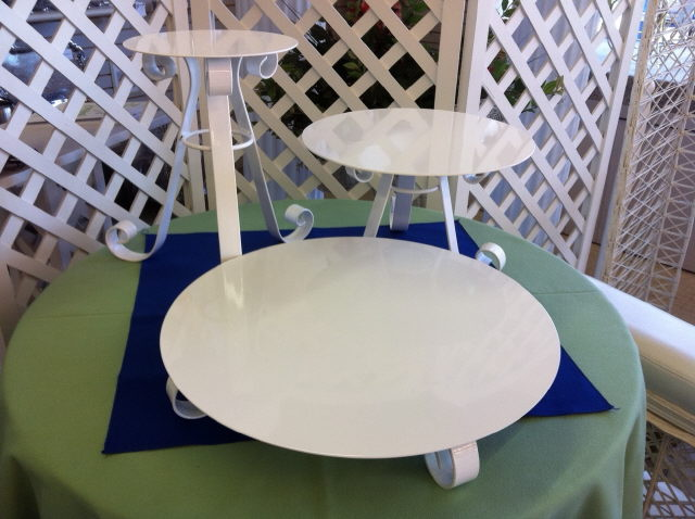 Where to find CAKE STAND, WHITE 8  DIA 1  TALL in Edmonds