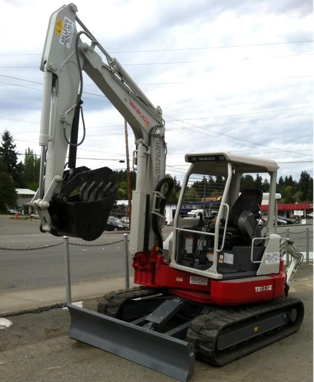Where to find TRACKHOE, TAKEUCHI TB 153FR in Edmonds
