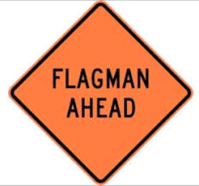 Where to find SIGN, FLAGMAN AHEAD in Edmonds