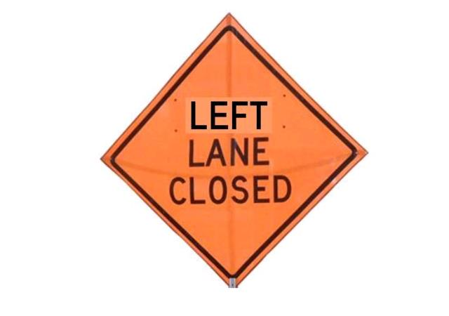 Where to find SIGN, LEFT LANE CLOSED in Edmonds