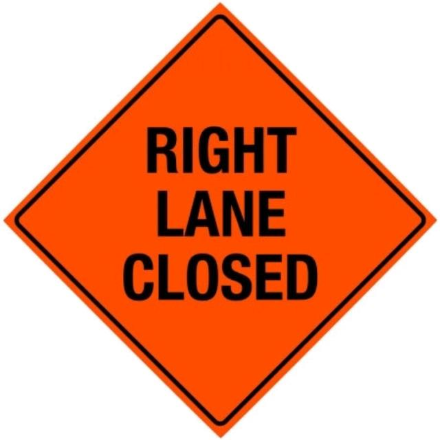 Where to find SIGN, RIGHT LANE CLOSED in Edmonds