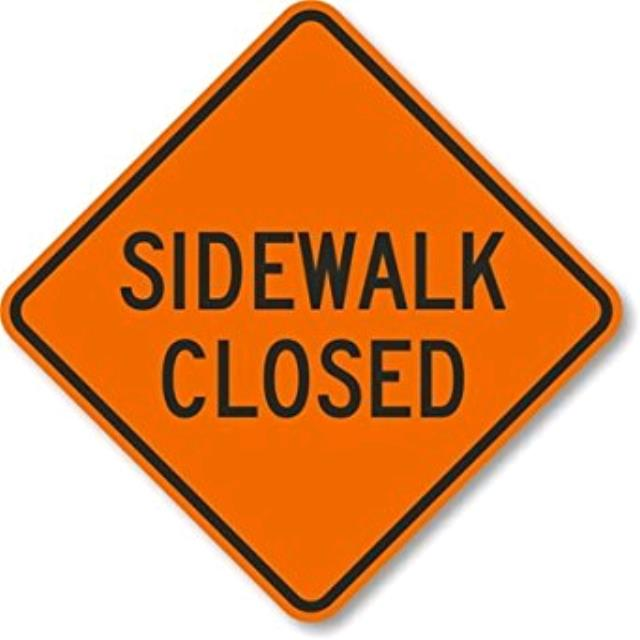 Where to find SIGN, SIDEWALK CLOSED in Edmonds